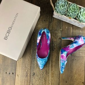 BCBG Water Color Pointed Heels